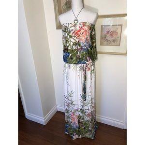Stunning Floral Tube Top Maxi Dress